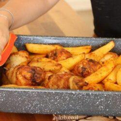 עוף עם תפוחי אדמה בתנור
