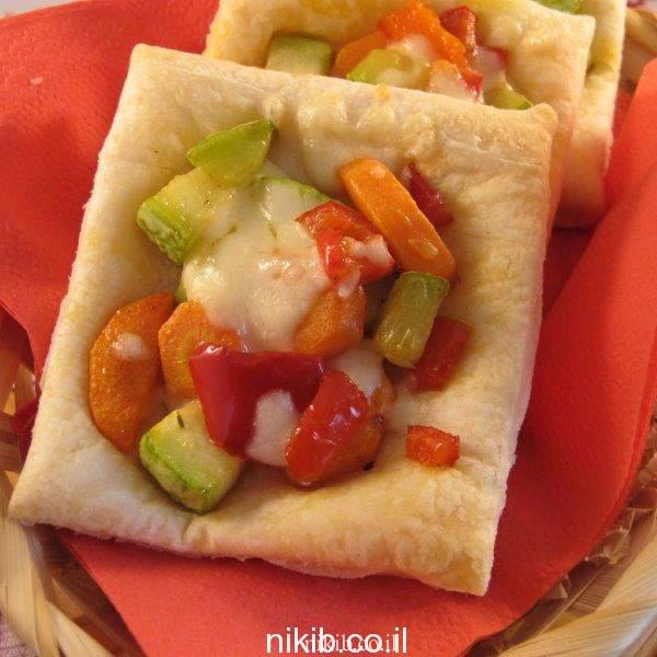ריבועי בצק עלים עם ירקות