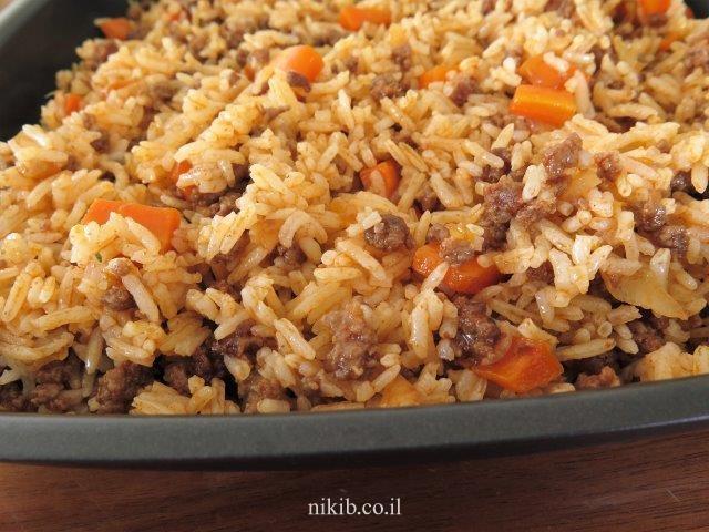 אורז עם בשר טחון