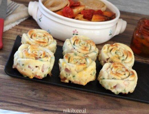 מאפינס ירקות עם נקניקיות