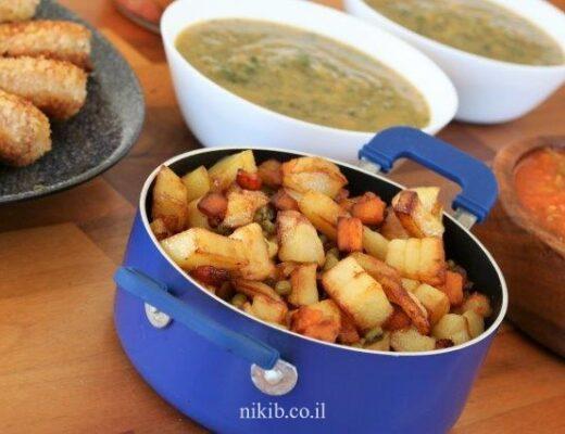 שעועית מש עם תפוחי אדמה