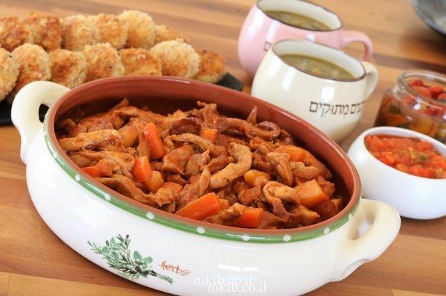 מעורב ירושלמי עם תפוחי אדמה