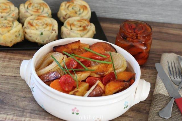 ירקות אפויים בדבש וקינמון