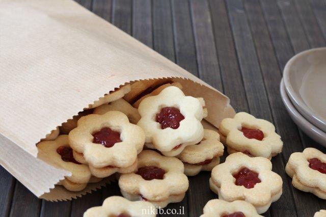 עוגיות פרח ריבה נפלאות