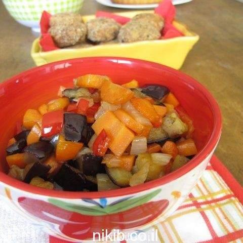 ירקות מוקפצים עם רוטב צ'ילי מתוק