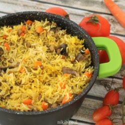 אורז עם עדשים בסיר אחד