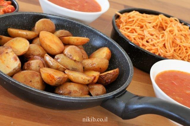 תפוחי אדמה קטנים אפויים בקוקי