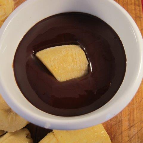 בננה קפואה עם שוקולד