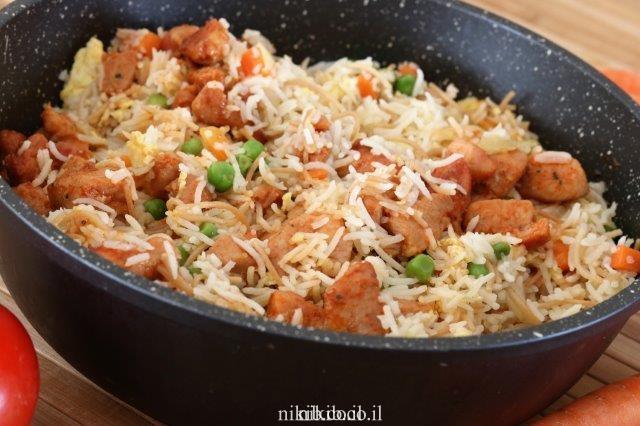 עוף ואורז בסגנון סיני