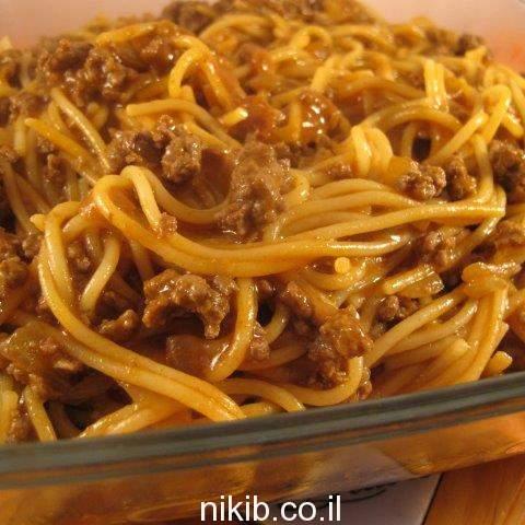 ספגטי בולונז לעצלנים
