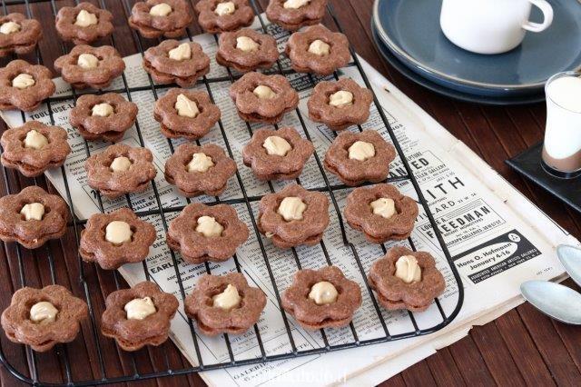 עוגיות פרח שוקולד