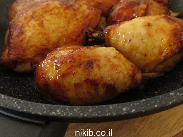 עוף במלח גס בתנור
