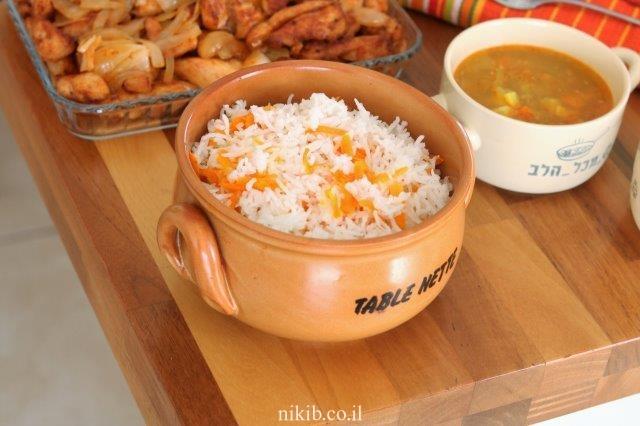 אורז עם גזר פשוט וקל