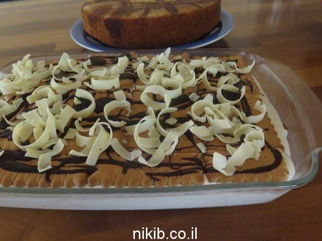 עוגת ביסקוויטים גבינה