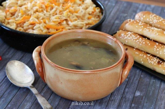 מרק בצל ופטריות