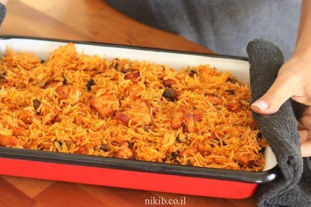 פרגיות ואורז בתנור