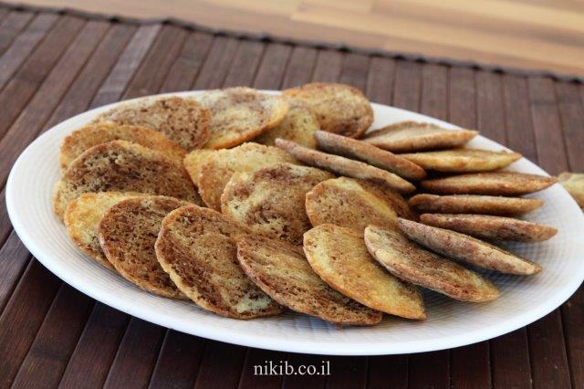 עוגיות שיש שוקו וניל