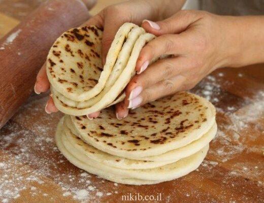 לחם במחבת עם קמח ללא גלוטן