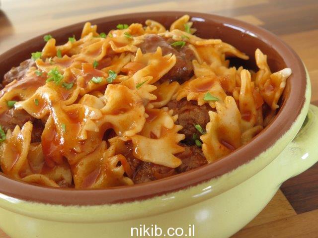 כדורי בשר וספגטי