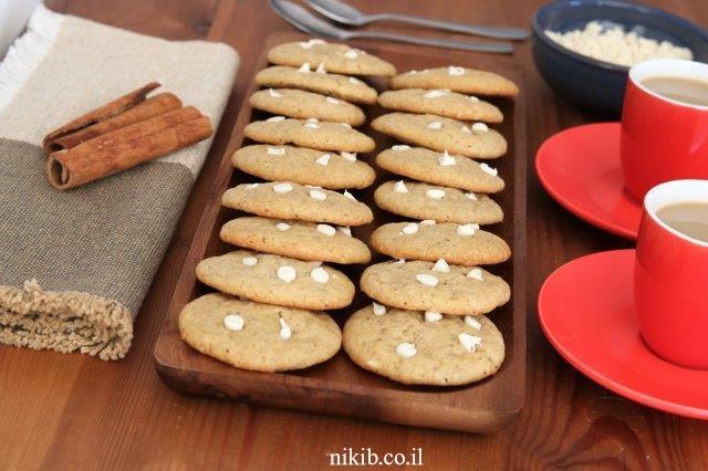 עוגיות קינמון ושוקולד צ'יפס