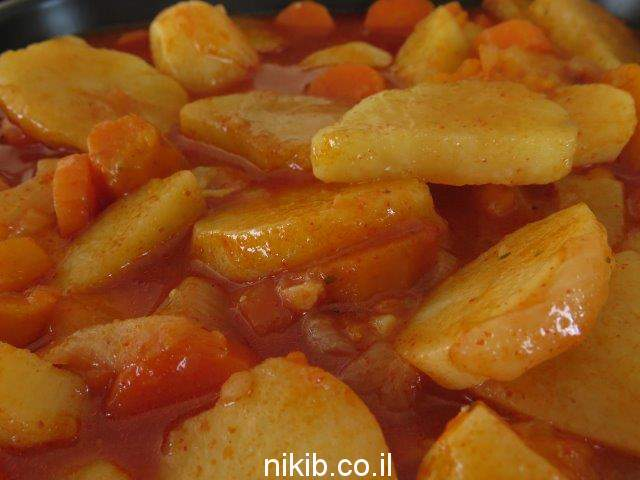 ירקות ברוטב צ'ילי מתוק