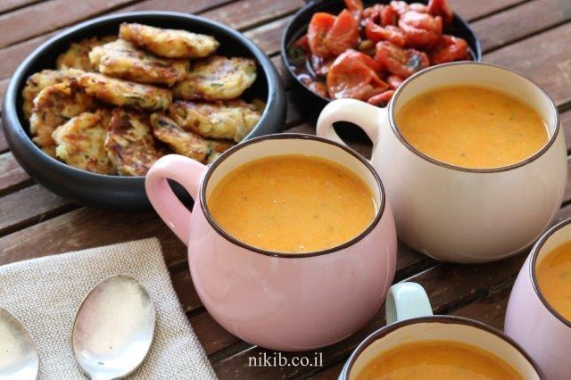 מרק ירקות שורש סמיך ועשיר