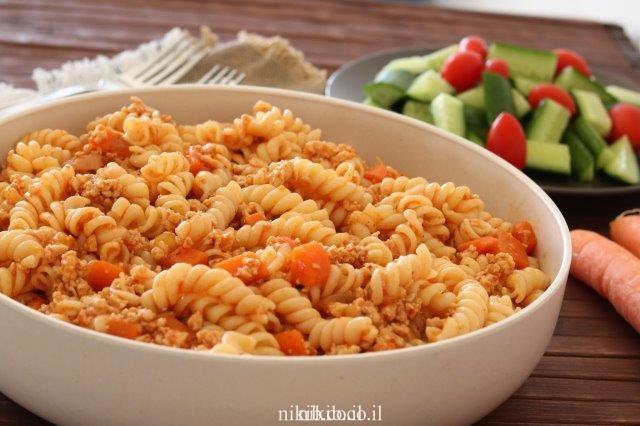 ספגטי בולונז עוף טחון