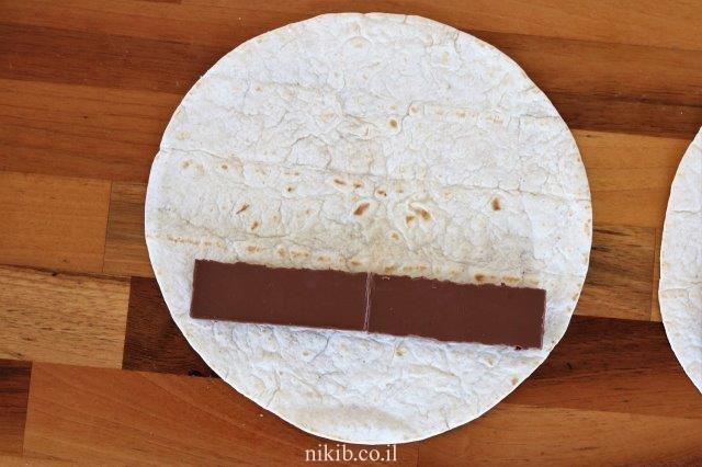 טורטייה עם קוביות שוקולד
