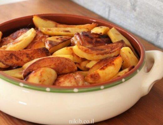 עוף עם תפוחי אדמה לילדים