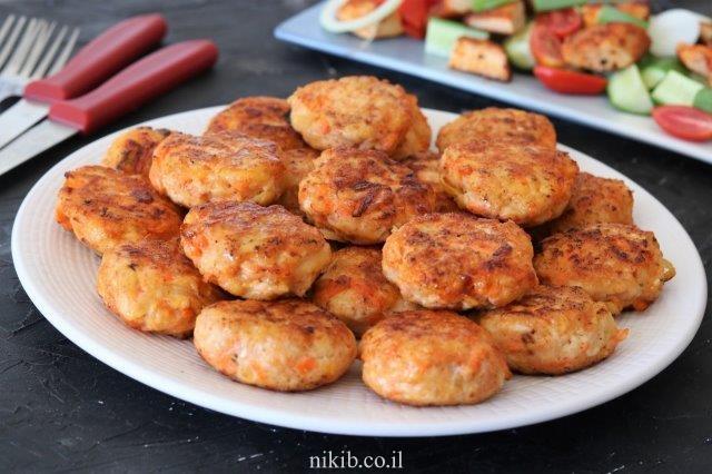 קציצות חזה עוף עם ירקות