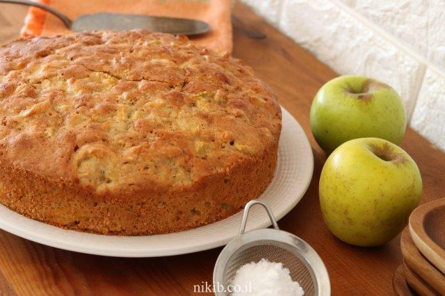 עוגת תפוחים פרווה