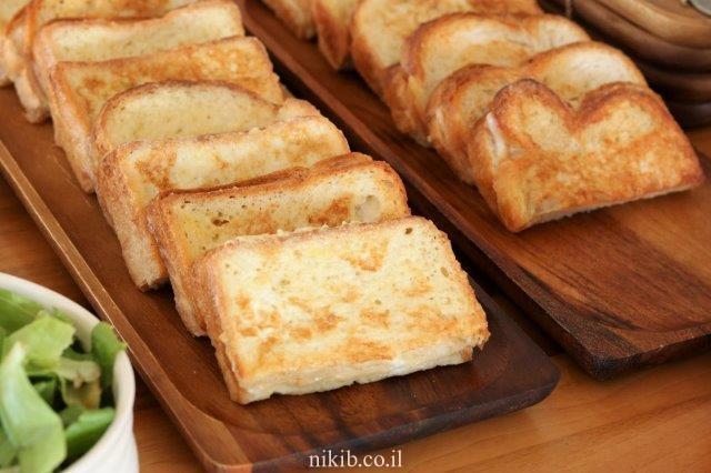 פרנץ טוסט עם גבינה צהובה