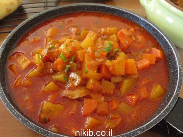 תבשיל ירקות עם קוסקוס
