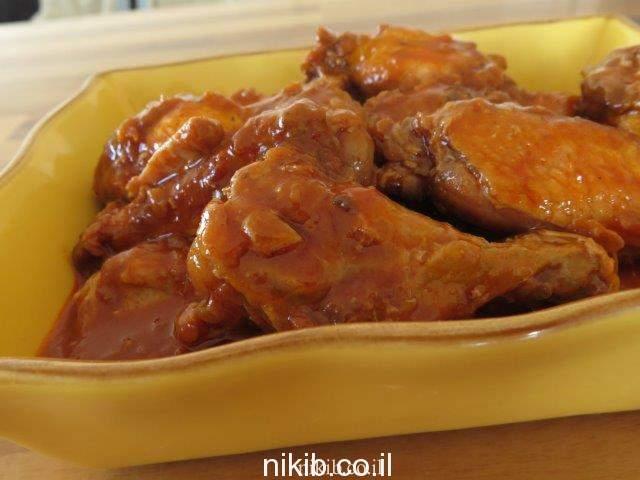 תבשיל עוף עם עדשים וטחינה