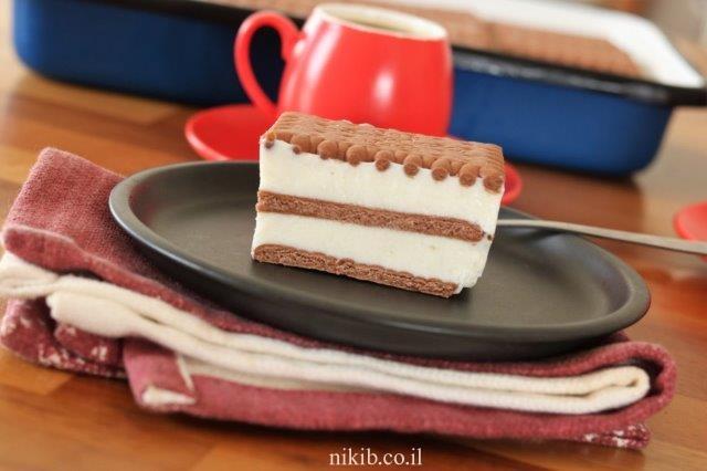 עוגת ביסקוויטים גבינה הכי טעימה שיש!