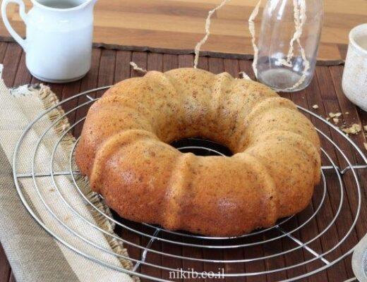 עוגת קינמון שמנת ואגוזים