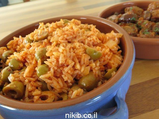 אורז עם זיתים