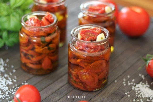 עגבניות מיובשות בשמן זית
