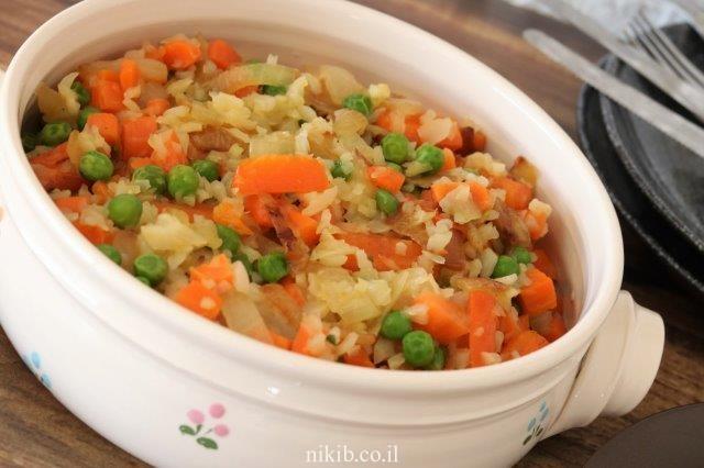כרובית מוקפצת עם ירקות