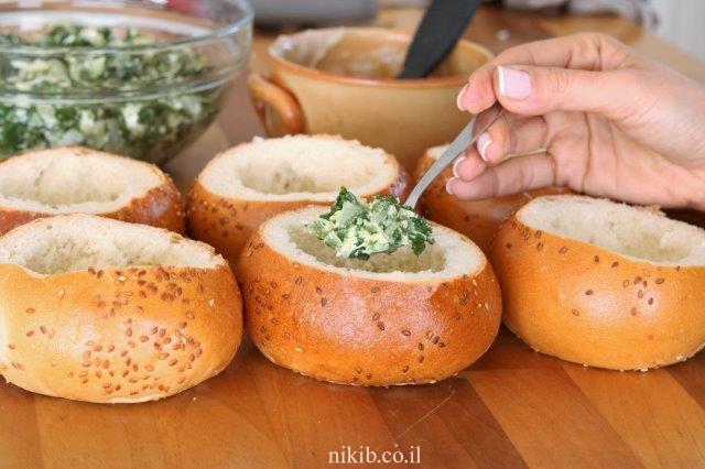 לחם שום עם תרד