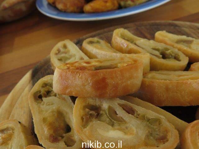 שבלולי גבינה עם זיתים