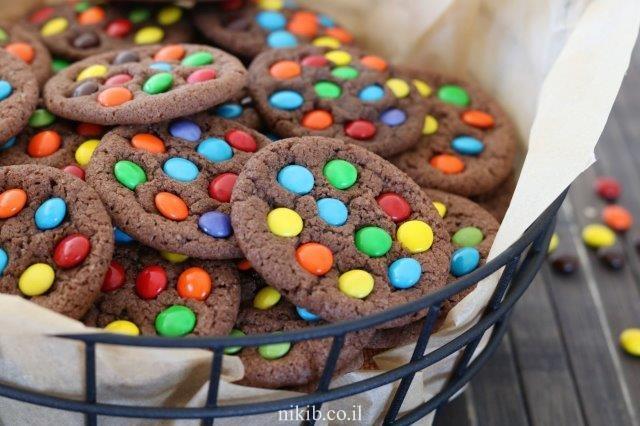 עוגיות עם סוכריות עדשים