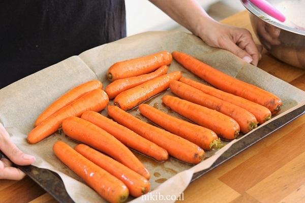 גזרים צלויים בתנור