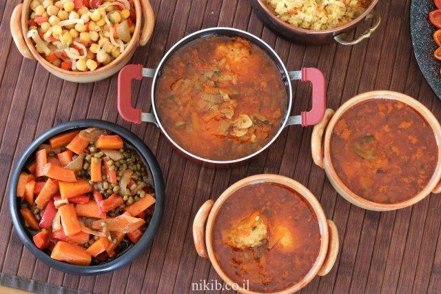מרק ירקות עם קציצות בשר