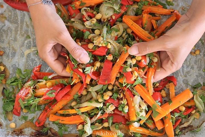 טורטייה עם ירקות אפויים