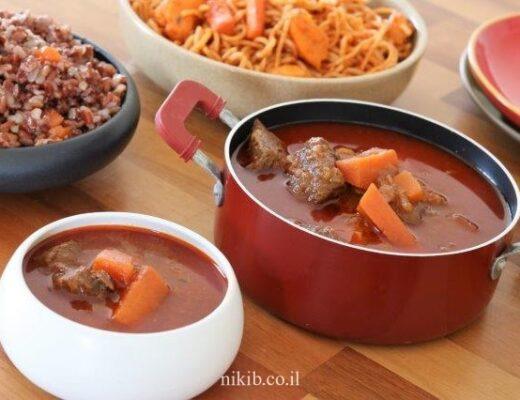 מרק בשר ועגבניות