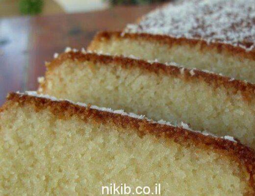 עוגת תפוזים סולת וקוקוס