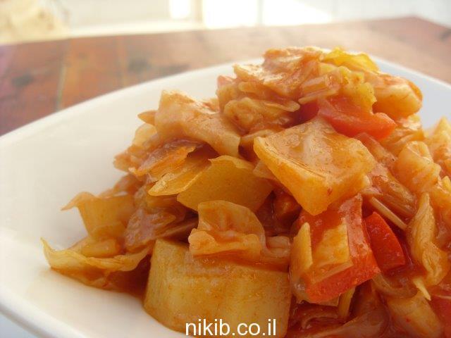 כרוב מאודה עם ירקות / מתכונים שווים לארוחת שישי
