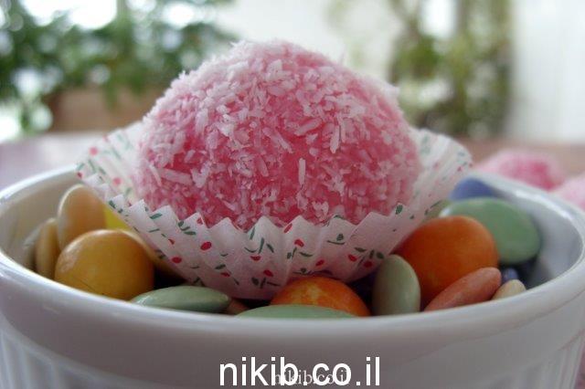 כדורי קוקוס צבעוניים