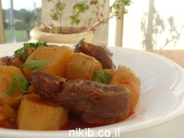 אוסובוקו עם ירקות שורש
